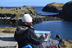 Sketching in Harris in May 2015