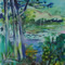 View from the Botanic Gardens - Acrylic on Canvas
