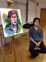 Portrait Demonstration at Strahclyde University